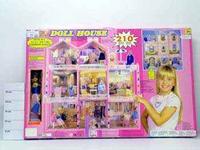 Кукольный дом с мебелью и куклой, 210 предметов, Shenzhen Jingyitian Trade Co., Ltd.