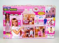Кукольный дом с мебелью, светом и куклой, 98 предметов, Shenzhen Jingyitian Trade Co., Ltd.
