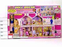 Кукольный дом с мебелью, светом, музыкой и куклой, 138 предметов, Shenzhen Jingyitian Trade Co., Ltd.