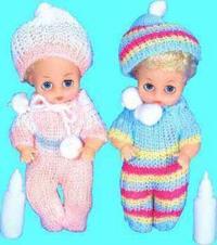Пупсы sweet baby (2 штуки) в вязанной одежде, Shenzhen Jingyitian Trade Co., Ltd.