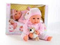 """Пупс """"дочки - матери"""" функциональный с мишкой и пустышкой, Play Smart (Joy Toy)"""