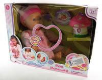 """Интерактивная кукла-младенец (41 см.) """"моя малышка с волшебным домиком"""" функциональная, на батарейках, Play Smart (Joy Toy)"""