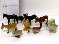 Набор резиновых зверей. 11 см. домашние животные. 10 штук. арт. farm animals 9710/10, Shenzhen Jingyitian Trade Co., Ltd.