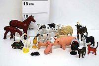 Набор резиновых зверей. 9 см. домашние животные. 20 штук. арт. farm animals fa1, Shenzhen Jingyitian Trade Co., Ltd.