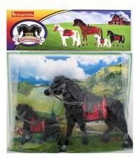 """Лошадь с седлом и уздечкой 8"""" с жеребенком 6"""". арт. 3016, Bondibon (Бондибон)"""