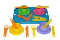 """Набор детской посуды """"минутка"""" с подносом на 4 персоны, Полесье"""
