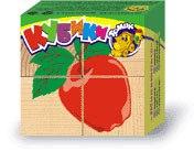 """Кубики """"фрукты-ягоды"""" (4 штуки), Томик"""