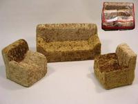 Мебель для кукол: диван, 2 кресла, Латрыгин / Войнов