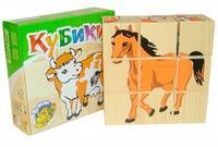 """Кубики """"сложи рисунок: домашние животные"""" (9 штук), Томик"""