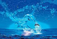 """Пазл """"зодиак"""" (флуоресцентный). 1000 элементов. арт. 30721, Clementoni"""