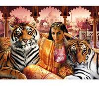 """Пазл """"индианка и тигры"""". 1500 элементов. арт. 31965, Clementoni"""