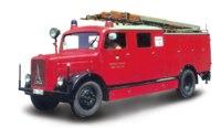 Коллекционная модель. пожарная машина magirus-deutz s 3000 slg, Yat Ming