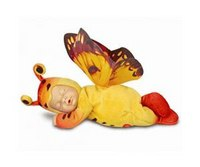 "9"" детки-бабочки желтые/оранжевые, Unimax"