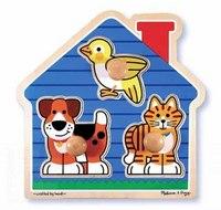 "Пазл-штамп ""домашние животные"", Melissa & Doug"