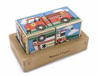 """Кубики со звуком """"транспорт"""", Melissa & Doug"""
