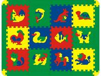 Коврик-трансформер напольный с животными (12 деталей), Флексика