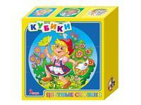 """Кубики """"цветные сказки-4"""", 9 штук, Десятое королевство"""