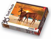 """Пазл """"лошади на пляже"""", 1500 элементов, Trefl"""