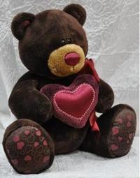 "Медведь-мальчик ""choco"" с сердцем (15 см), Orange exclusive"