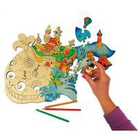 """Игрушка-пазл """"чудо-юдо рыба-кит"""", 38 деревянных элементов, Вуди (Woody)"""