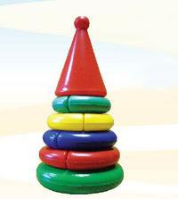 Пирамидка «логика» мини (конус), Строим вместе счастливое детство