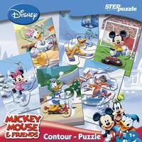 """Игра contour-puzzle """"дисней. миккимаус"""", Step Puzzle (Степ Пазл)"""