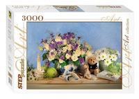 """Пазл """"цветы"""", 3000 элементов, Step Puzzle (Степ Пазл)"""