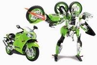 Робот-трансформер kawasaki ninja zx-12r со звуковыми и световыми эффектами, Happy Well