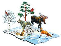 "Тематическое лото - диаграмма ""времена года: зима в лесу"", Умная бумага"