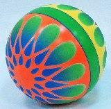 Мяч лакированный с красочным узором, Чебоксарский завод