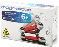Магнитный конструктор красный, 16 элементов, Magneticus
