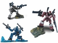 """Игровой набор """"герои марса"""" (робот красный, серый, синий), Happy Kid"""