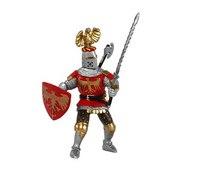 Рыцарь с украшением на шлеме, красный, Papo