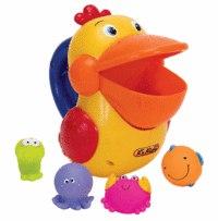 Голодный пеликан для ванной (пластик), K's Kids