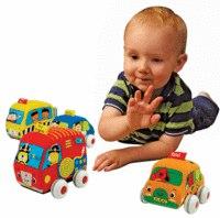 Машинки мягкие с инерционным механизмом (в наборе 4 штуки), K's Kids