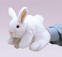Белый кролик (20 см), Folkmanis