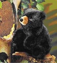 Черный медвежонок (23 см), Folkmanis