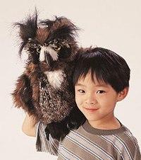 Большая рогатая сова (46 см), Folkmanis