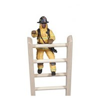 Американский пожарный в желтом костюме, Papo