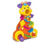 """Развивающая игрушка """"забавный жираф с машинками"""", Kiddieland"""