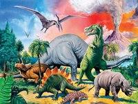 """Пазл """"мир динозавров"""", 100 элементов, Ravensburger"""