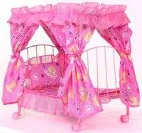 Кроватка с балдахином для куклы, Melogo