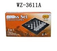 Настольная игра 3 в 1. шахматы, шашки, нарды, Китай