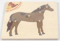 """Пазл """"лошадка"""", Мир деревянных игрушек (МДИ)"""