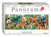 """Пазл-панорама """"мир животных"""", 1000 элементов, Step Puzzle (Степ Пазл)"""