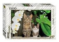 """Пазл """"котята и орхидея"""", 1500 элементов, Step Puzzle (Степ Пазл)"""