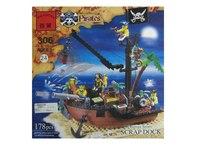 """Конструктор """"пиратский док"""", 178 деталей, ENLIGHTEN (Brick)"""