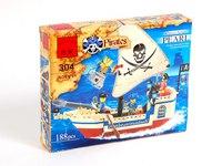 """Конструктор """"пиратский корабль"""", 188 деталей, ENLIGHTEN (Brick)"""