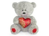 Медвежонок с парчовым сердцем (21 см), Lava
