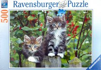 """Пазл """"котята на заборе"""" (500 элементов), Ravensburger"""